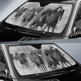 car sun shade with wild horses print  algarve online shop