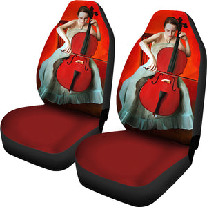 Car Seat Covers - Cello Play Music
