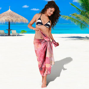 Sarong with flower print algarve online shop
