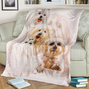 dog print throw fleece blanket algarve online shop