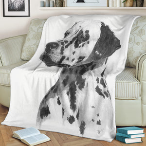 Dog Print Throw Blanket Dalmatian