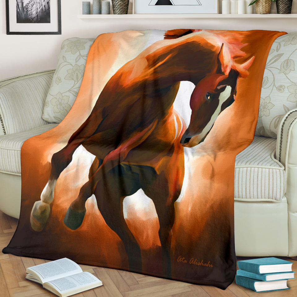 horse throw blanket algarve online shop