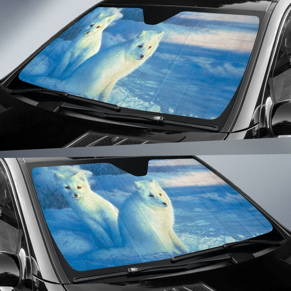 Car Sun Shade Arctic White Fox