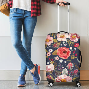 floral luggage cover