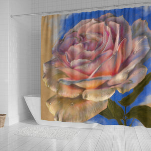 flower shower curtain pink rose algarve online shop