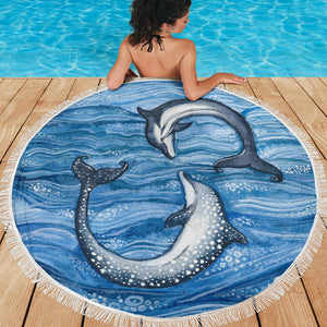 Dolphin Play Beach Blanket