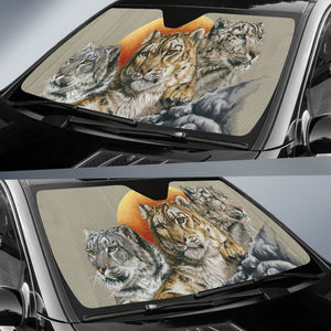 auto sun shade with leopard print- algarve online shop