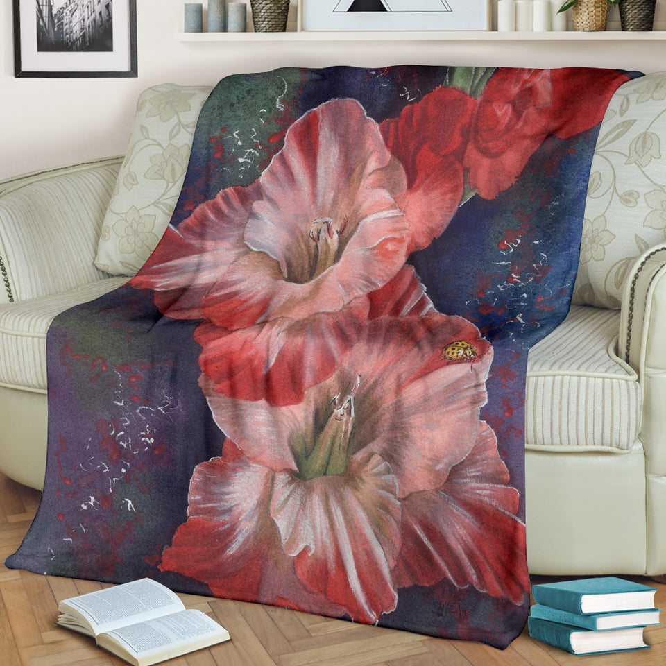 blanket with flower print