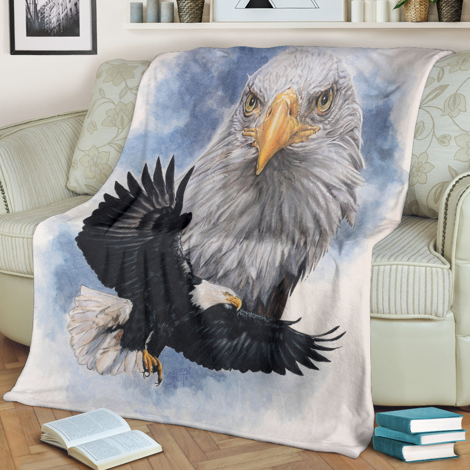 American Eagle Throw Blanket