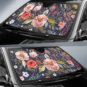 flower windshield sun shade