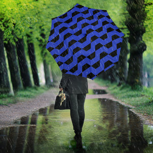 Hypnotic Blue Wave - Umbrella