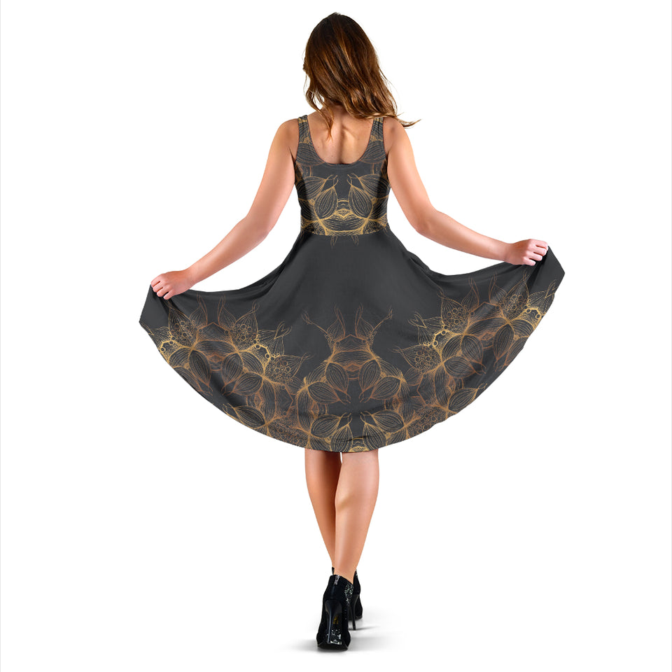 Dress Golden Lotus Mandala 2