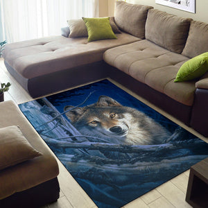 Area Rug Wolf Moonshine