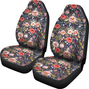 floral water color car seat covers