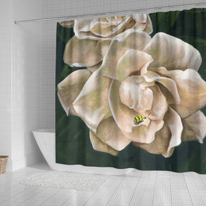 White Roses Shower Curtain - Bath Curtain Floral - Algarve Online Shop4