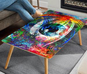 HandCrafted Abstract Digital eye Coffee Table