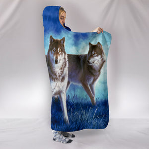 Hooded blanket Wolf Pack