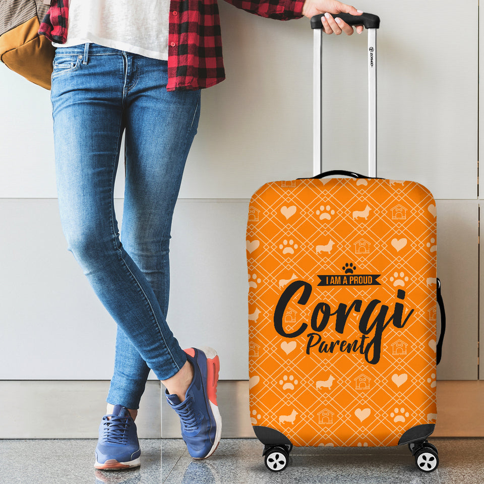 Proud Corgi Parent Luggage Cover