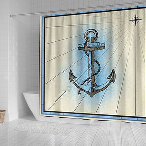 anchor shower curtain Algarve online shop Ships worldwide