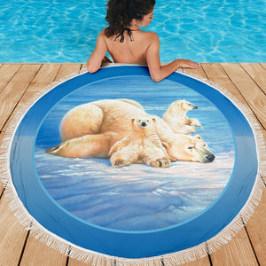 Beach blanket polar bear