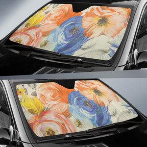 floral car sun shades algarve online shop