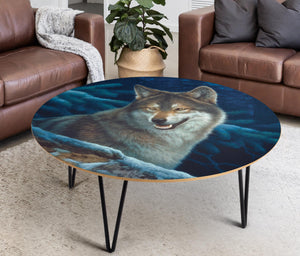 Coffee Table Wolf Art