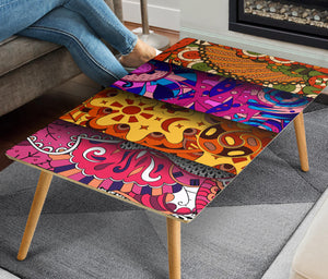 HandCrafted Abstract Colorful Art Coffee Table