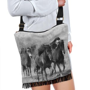 Horses Black and White Crossbody bag