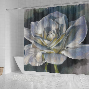 White Rose Shower Curtain - Bath Curtain Floral - Algarve Online Shop4