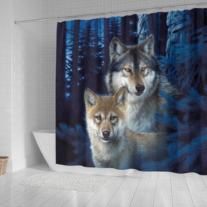 Wolf  Shower Curtains