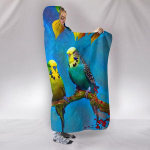 budgie hooded blanket
