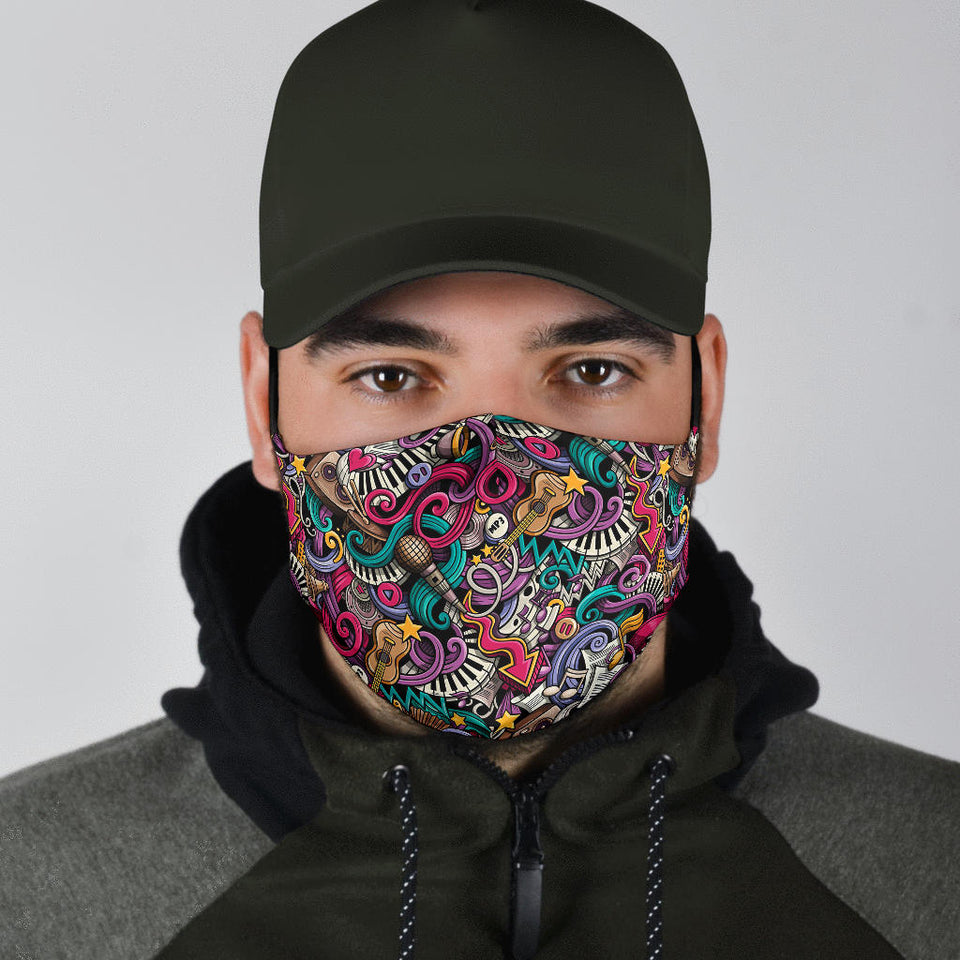 male face mask with music