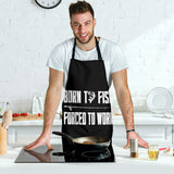Men's Apron Forced To Work
