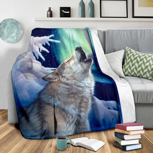 wolf gift fleece  blanket