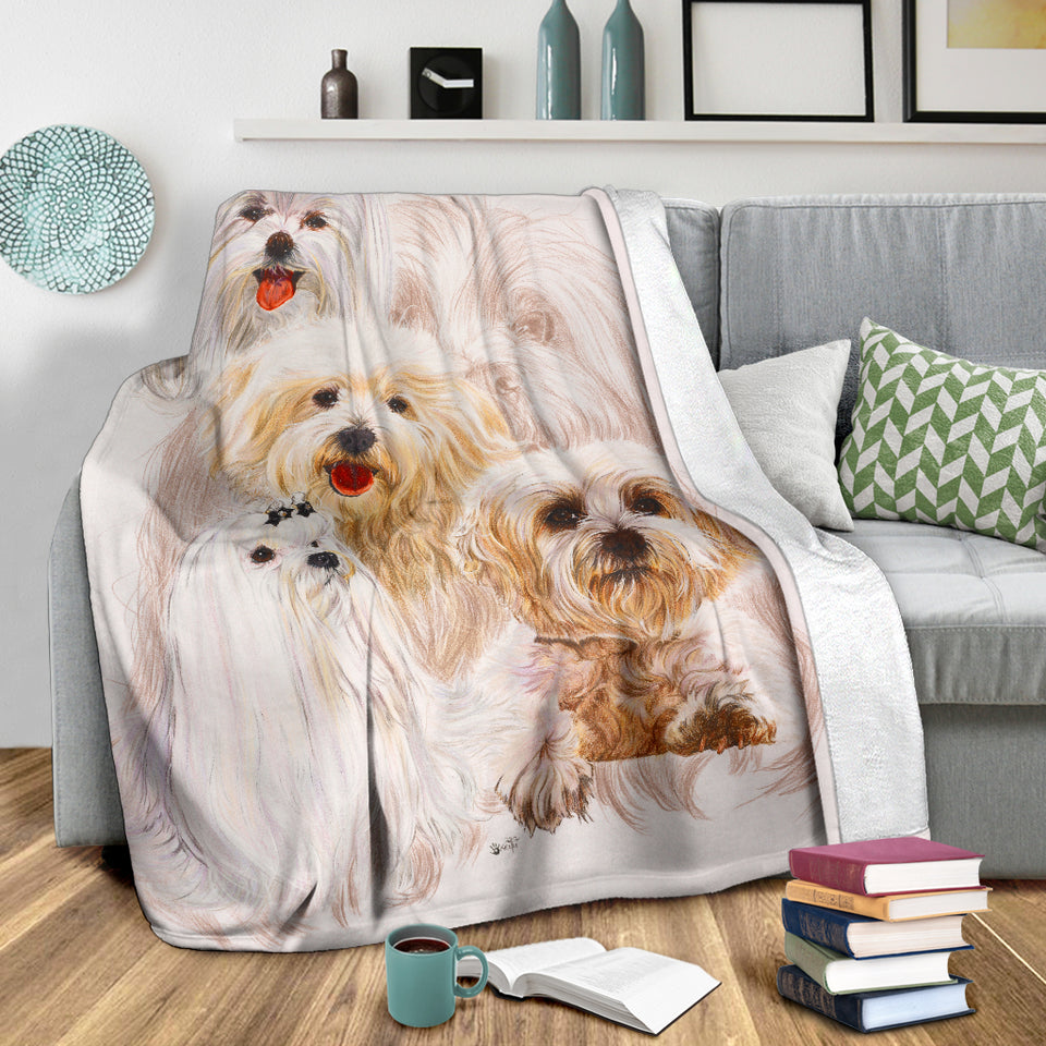 dog print throw blanket algarve online shop