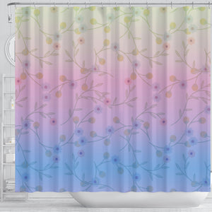 Shades of Spring Shower Curtain
