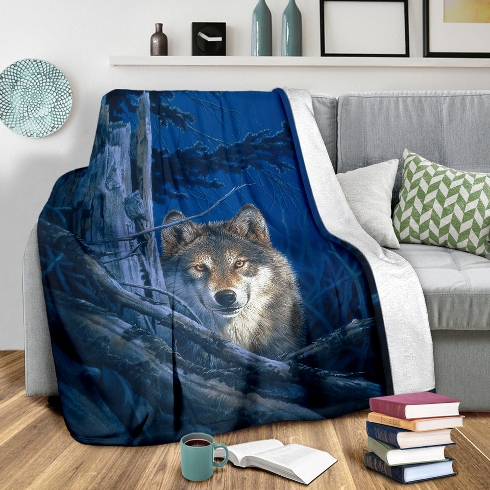 Youth Wolf blanket