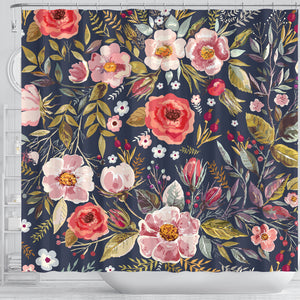 Shower Curtain Vintage Flower