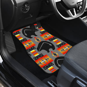 Thunderbear Gray Front And Back Car Mats (Set Of 4)