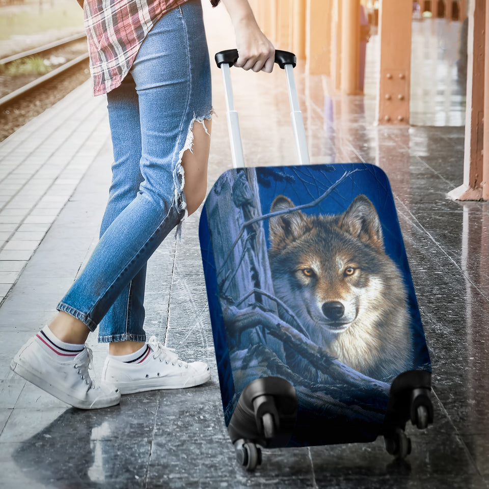 Wolf Moonshine Luggage Cover