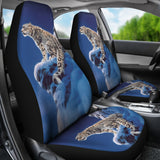 Joh Naito car seat covers snow leopard