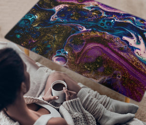 HandCrafted Abstract Liquid Gradient Coffee Table