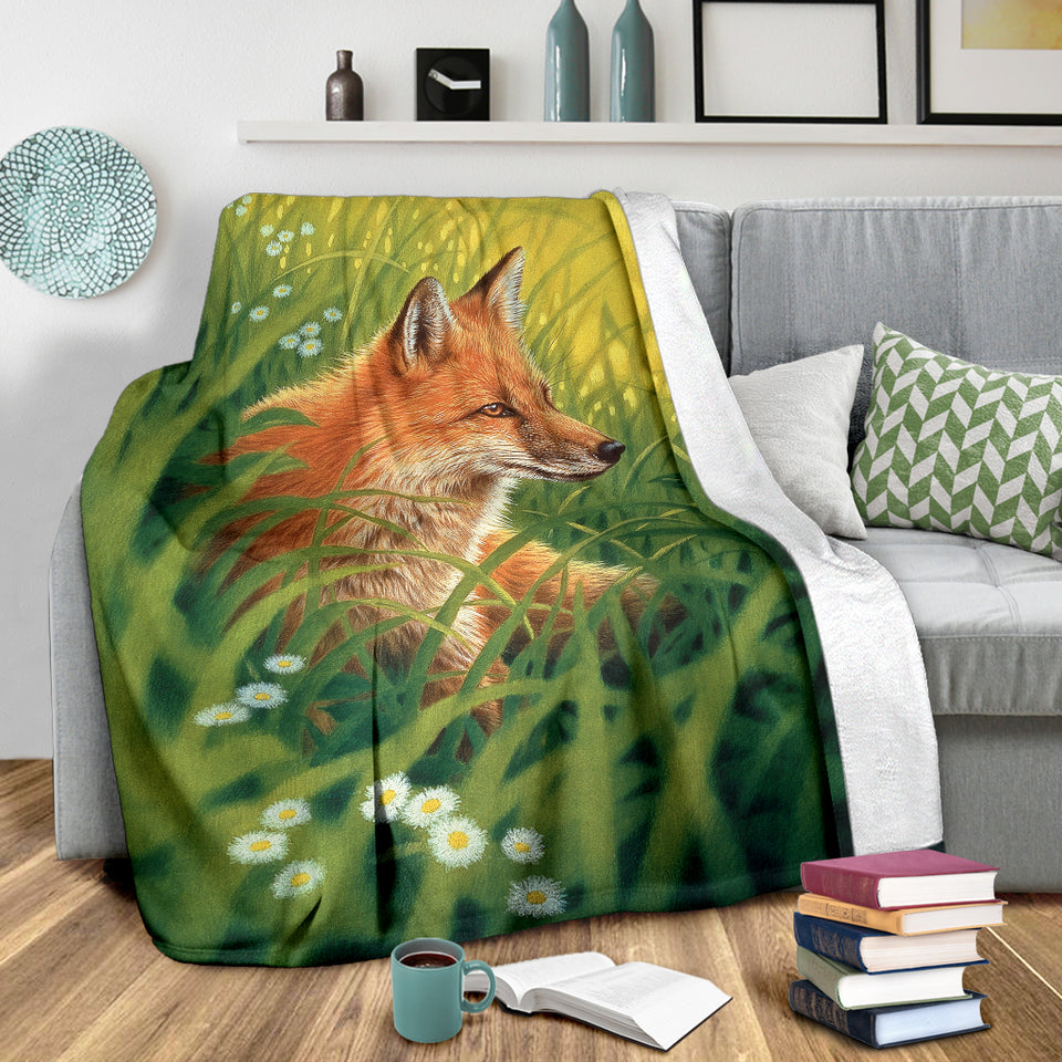 Cozy fox blanket