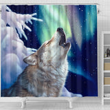 Wolf Shower Curtain holy night