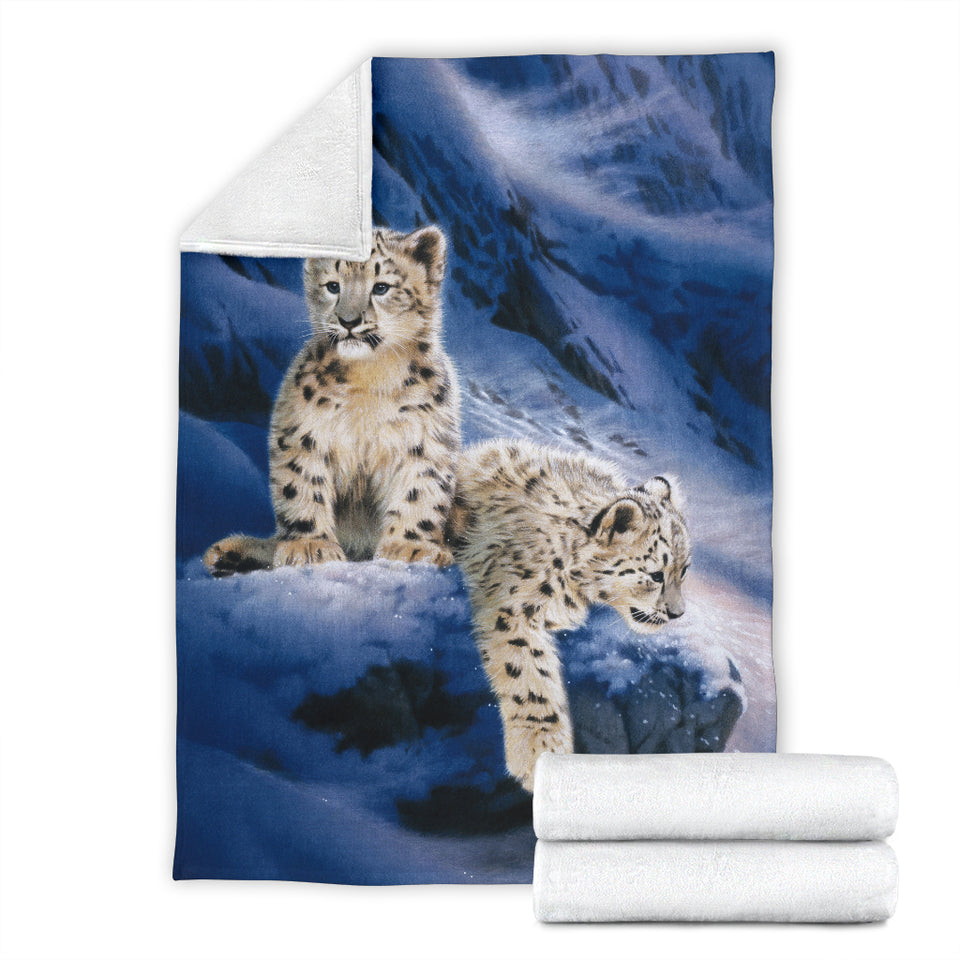 blanket with baby leopards