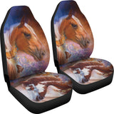 2 pc universal car seat covers horses