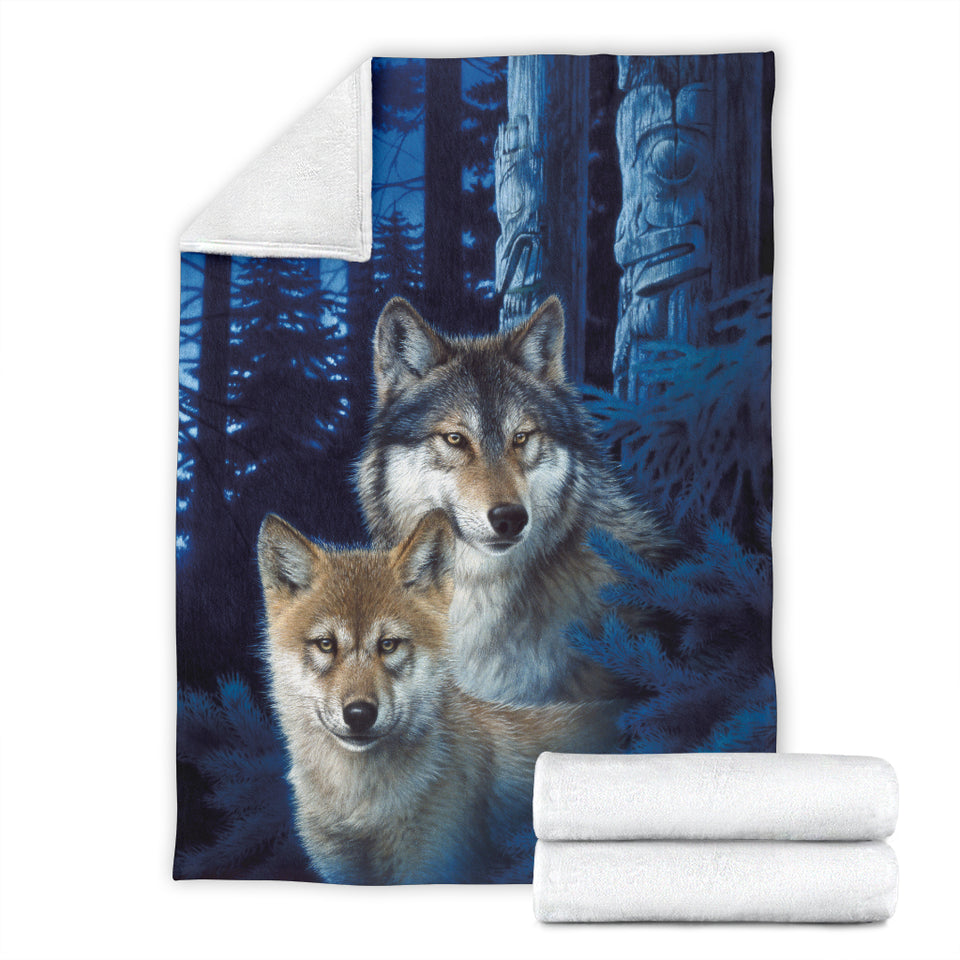 Awesome Wolf Blanket Mystic Canyon