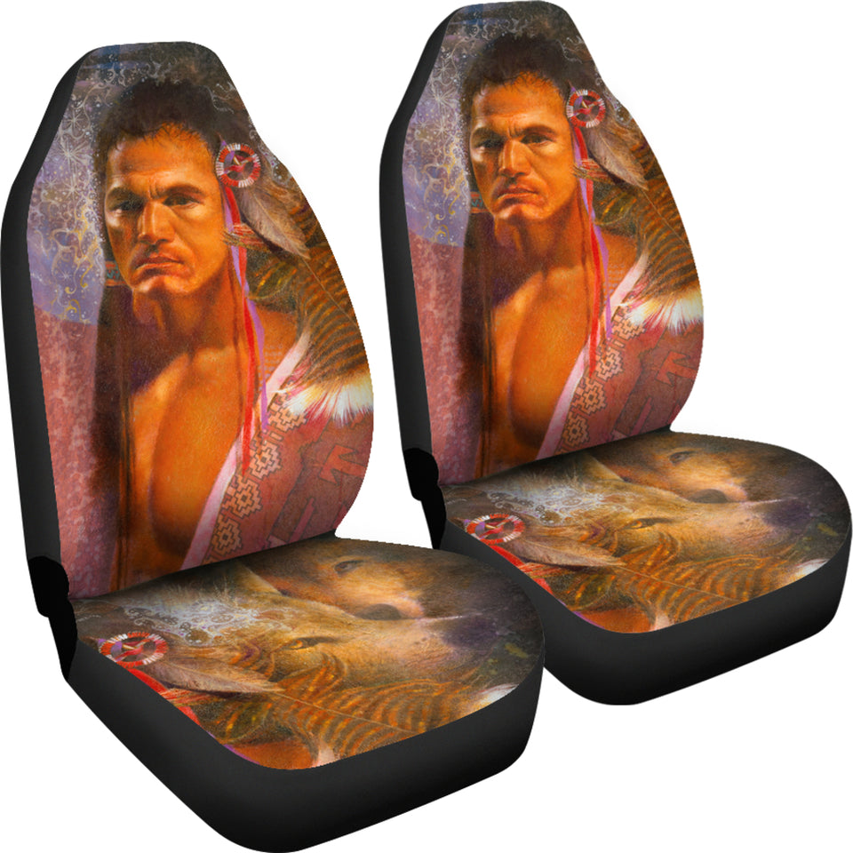 Front Car seat covers native american 2pc