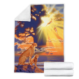 cheetah youth blanket