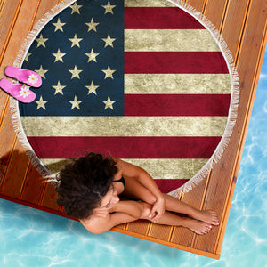 Beach Blanket US Flag